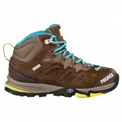 Chaussures trekking Tecnica Cyclone III Mid Tcy Jr marron-lime (33-36)