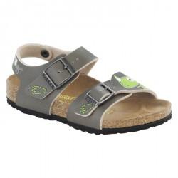 Sandales Birkenstock New York Garçon gris-vert