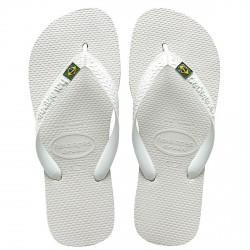 tongs Havaianas Brasil Logo blanc