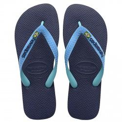 Chancletas Havaianas Brasil Mix azul-turquesa