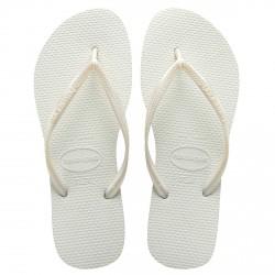 Tongs Havaianas Slim Femme blanc
