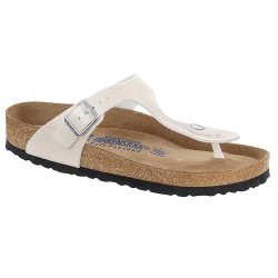 Thongs Birkenstock Gizeh Woman glitter white