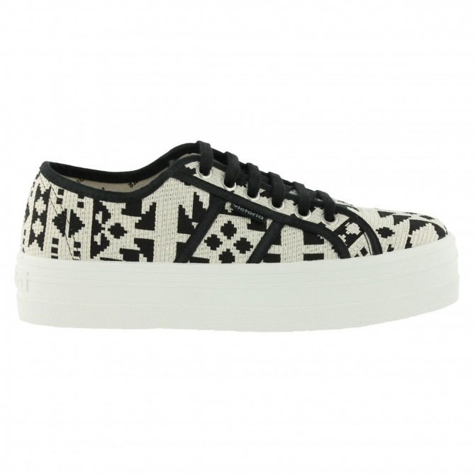 Sneakers Victoria Étnico Mujer negro