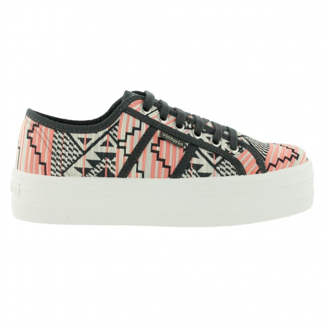 Sneakers Victoria Ethnique Femme corail