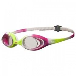 Swimming goggles cap Arena Spider Jr lime-fuchsia