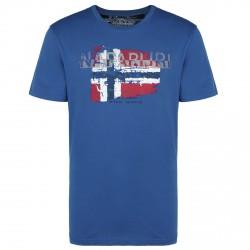 T-shirt Napapijri Slood Hombre azul-gris