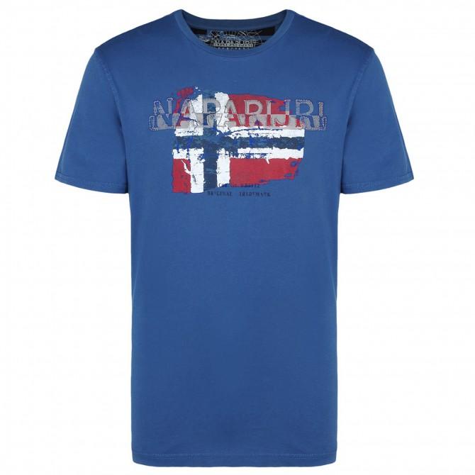 T-shirt Napapijri Slood Homme bleu-gris