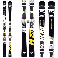 Sci Rossignol Master Hero R21 WC + attachi Spx 15 nero-bianco-giallo