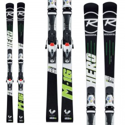 Sci Rossignol Master Hero R21 WC + attachi Spx 15 nero-bianco-verde