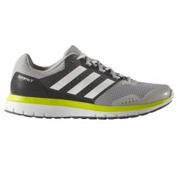 Chaussures running Adidas Duramo 7 Homme gris-lime