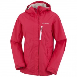 Chaqueta impermeable Pouring Adventure Mujer rojo
