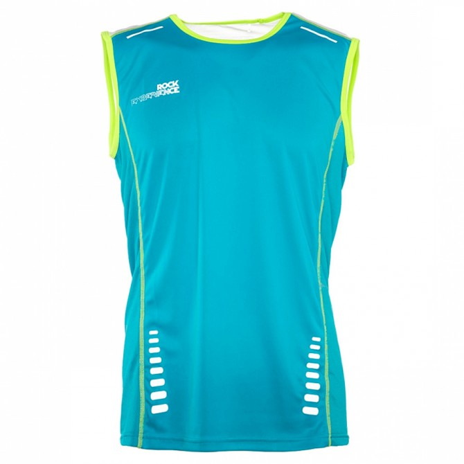Canotta Rock Experience Velocity tank turchese-bianco-lime