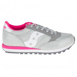 Sneakers Saucony Jazz O' Fille argent-rose (27-35)