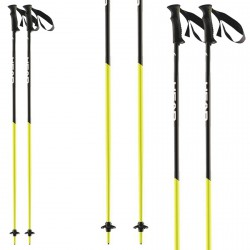 Ski poles Head Airfoil black-yellow