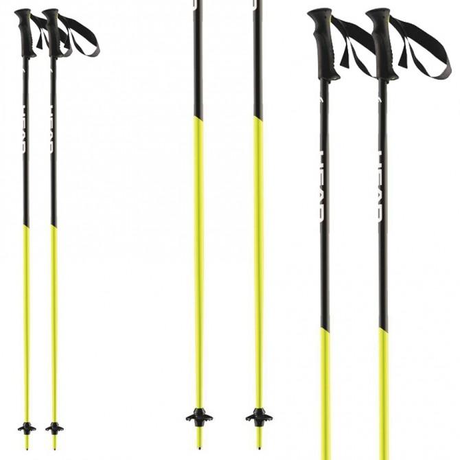 Bastoni sci Head Airfoil nero-giallo fluo