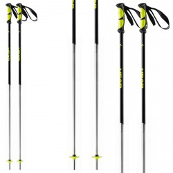 Ski poles Head Multi S black-yellow