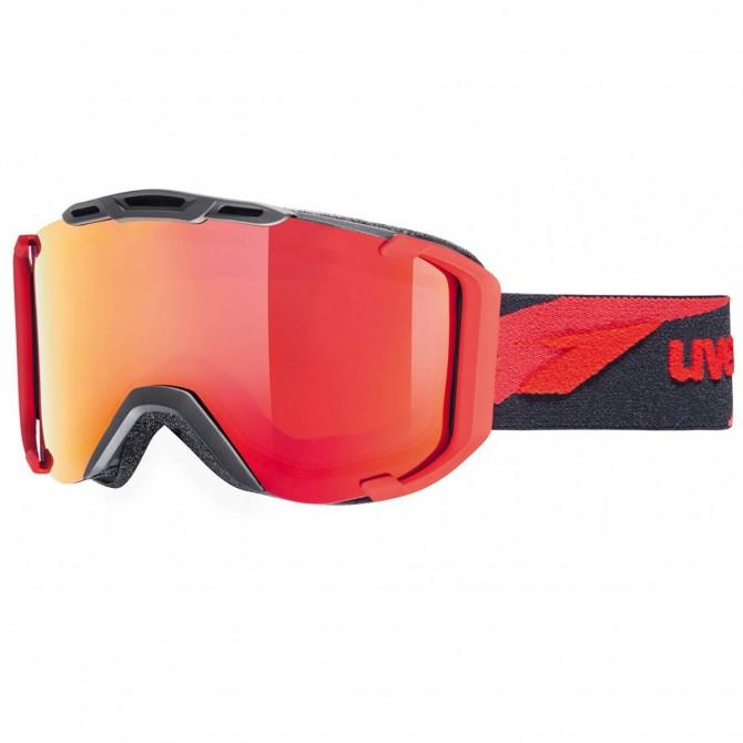 Maschera sci Uvex Snowstrike Ltm nero-rosso