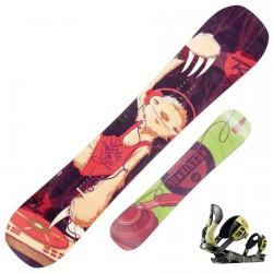 Snowboard Rossignol Retox Amptek + fixations Cobra V2 m/l