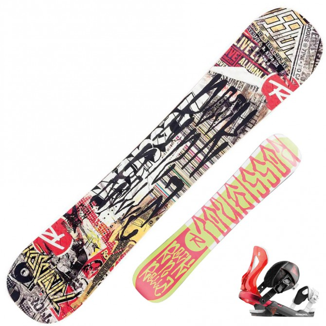 Snowboard Rocknrolla Amptek + attacchi Cobra V2 m/l fantasia