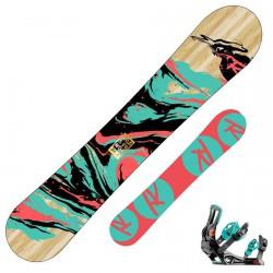 Snowboard Rossignol Gala Amptek + fijaciones Gala s/m
