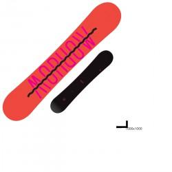 Snowboard Morrow Kava + attacchi Charma