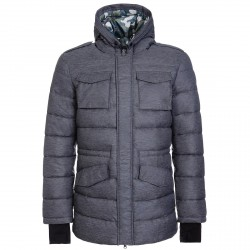 Long down jacket Invicta Man grey