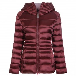 Satin down jacket Invicta Woman burgundy