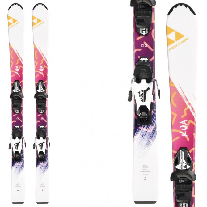 Ski Fischer Koa Jr Slr 2 + bindings Fj4 Ac Rail (90-120)