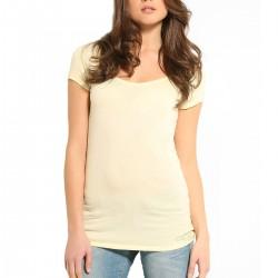 t-shirt Guess Logo Plate femme