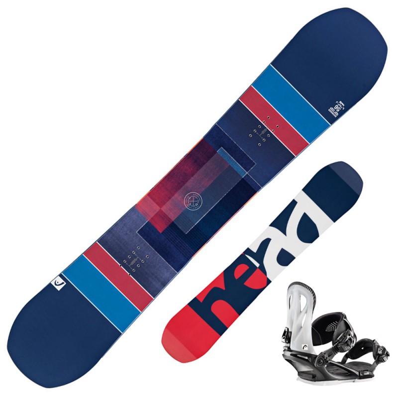 Snowboard Head Daymaker + attacchi Nx Three (Colore: blu-rosso, Taglia: 156)