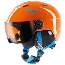 Casco esquí Uvex Junior Visor naranja