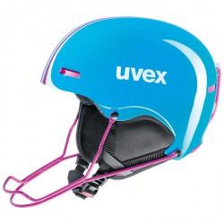 Casque ski Uvex Hlmt 5 Race bleu clair