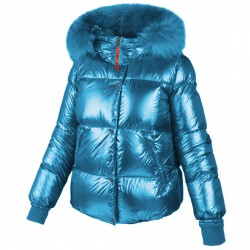 Down jacket Freedomday Chatel Woman turquoise