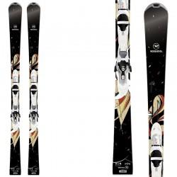 ski Rossignol Unique 2S W + fixations Xelium Saphir 100 S
