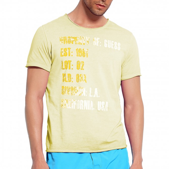 t-shirt Guess Into the Laundry Uomo