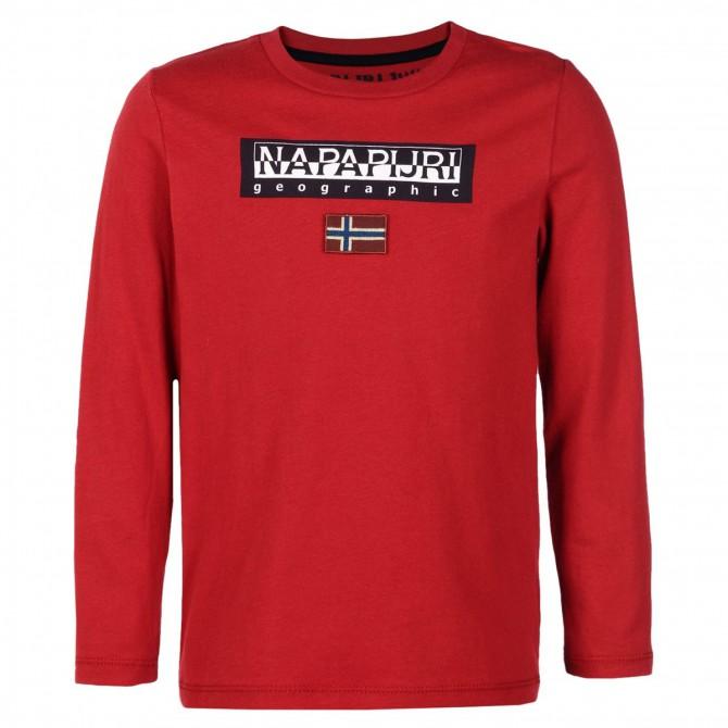 T-shirt Napapijri Saimaa Bambino (4-8 anni) rosso