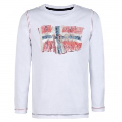 T-shirt Napapijri Saptari Bambino (4-8 anni) bianco