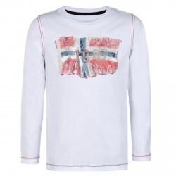 T-shirt Napapijri Saptari Garçon (4-8 âge) blanc