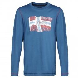 T-shirt Napapijri Saptari Bambino (10-14 anni) blu