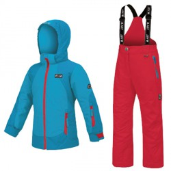 Ski set Astrolabio YG7J Girl light blue-pink