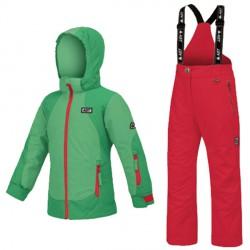 Conjunto esquí Astrolabio YG7J Niña verde-rosa