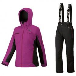 Ensemble ski Astrolabio JP9U Fille violet-noir