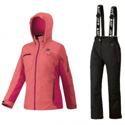 Ensemble ski Astrolabio JP9U Fille orange-noir