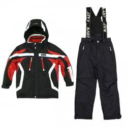 Conjunto esquí Astrolabio JI9H Niño negro-rojo