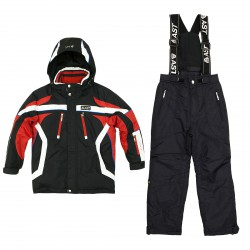 Ski set Astrolabio JI9H Junior black-red