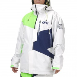 Freeride ski jacket Picture Nova Man white