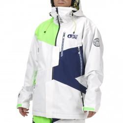 Freeride ski jacket Picture Nova Man white