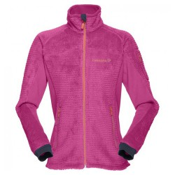 Fleece Norrona Lofoten Warm 2 High Loft Woman fuchsia