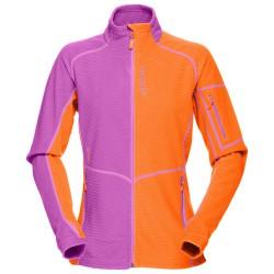 Vellón Norrona Lofoten Warm 1 Mujer naranja-violeta