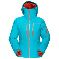 Veste ski freeride Norrona Lofoten Gore-Tex Primaloft Femme vert sombre